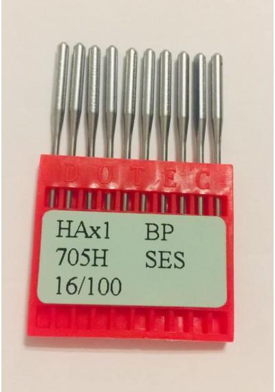 Бытовые швейные иглы Dotec HAx1, 705H 16/100 10 шт.